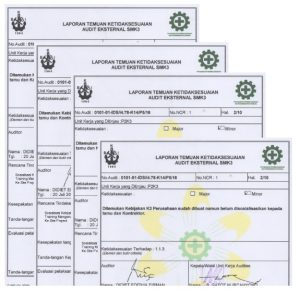 Laporan audit SMK3